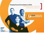 Managing Financial Consolidation in ECCS