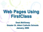 Web Pages Using FirstClass