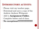 Introductory activity: