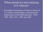 When should we start studying U.S. History?