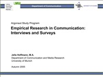 Empirical Research in Communication: Interviews and Surveys