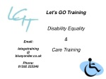 Let's GO Training Disability Equality & Care Training
