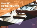 MAKING MEASUREMENT MATTER