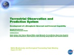 NASA Biodiversity and Ecological Forecasting Team Meeting August 30, 2005