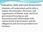 Federalism, State and Local Government