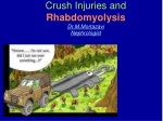 Crush Injuries and Rhabdomyolysis Dr.M.Mortazavi Nephrologist