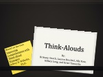 Think- Alouds