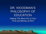 DR. WOODMAN'S PHILOSOPHY OF EDUCATION