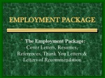 EMPLOYMENT PACKAGE