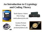 An Introduction to Cryptology and Coding Theory