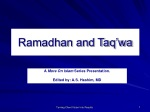 Ramadhan and Taq'wa