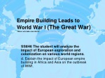 "Empire Building Leads to World War I (The Great War) ""Wars not make men Great"""