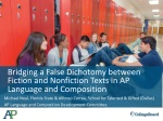 Bridging a False Dichotomy between Fiction and Nonfiction Texts in AP Language and Composition