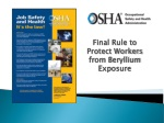 Final Rule to Protect Workers from Beryllium Exposure