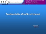 Confidentiality &Conflict of Interest