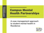 Campus Mental Health Partnerships