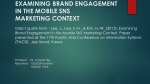 EXAMINING BRAND ENGAGEMENT IN THE MOBILE SNS MARKETING CONTEXT