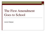 The First Amendment Goes to School