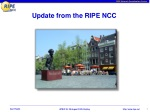 Update from the RIPE NCC