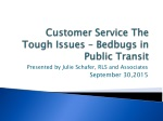 Customer Service The Tough Issues – Bedbugs in Public Transit