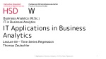 IT Applications in Business Analytics