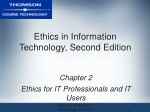 Ethics in Information Technology, Second Edition