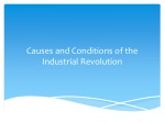 Causes and Conditions of the Industrial  R evolution