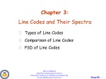 Chapter 3: Line Codes and Their Spectra