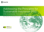 Addressing the Principles for Sustainable Insurance (PSI)