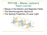 PHY138 – Waves, Lecture 6 Today's overview
