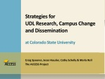 Strategies for UDL Research, Campus Change and Dissemination at Colorado State University