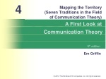 Mapping the Territory (Seven Traditions in the Field of Communication Theory)