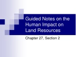 Guided Notes on the Human Impact on Land Resources