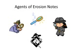 Agents of Erosion Notes