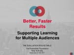 Better, Faster Results Supporting Learning for Multiple Audiences