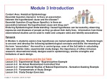 Module 3 Introduction Content Area: Analytical Epidemiology
