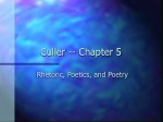 Culler -- Chapter 5
