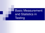 Basic Measurement and Statistics in Testing