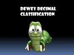 Dewey Decimal Classification