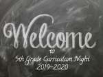 WELCOME to 5th G rade CURRICULUM NIGHT 201 6 -201 7