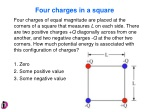 Four charges in a square