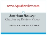 American History: Chapter 19 Review Video