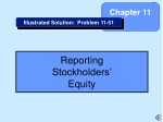 Reporting Stockholders' Equity