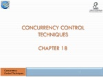 Concurrency Control Techniques Chapter 18