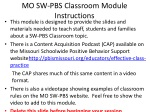 MO SW-PBS Classroom Module Instructions