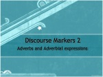 Discourse Markers 2