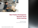 New Product Development: Research Tips & Active Listening