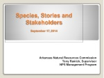 Species, Stories and Stakeholders September 17,  2014