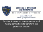 Creating knowledge, shaping people, and making connections to transform the profession of sales