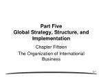 Part Five Global Strategy, Structure, and Implementation